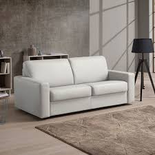 Living Room Sofa Bed Florence 3 Seater Italian Leather Sofa Bed With Foam Mattress