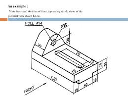 engineering graphics free hand sketch
