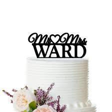 Heart Wedding Cake Personalized Mr U0026 Mrs Custom Name Love Bird Hearts Wedding Cake