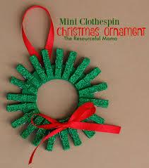 mini clothespin wreath ornament for the
