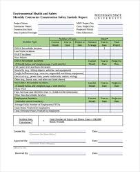 monthly health and safety report template 36 monthly report sles free premium templates