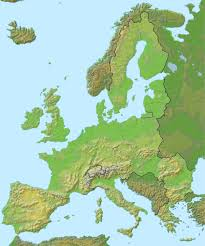 Brussels On World Map by Topographical Map Of Europe Roundtripticket Me