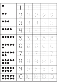 pictures number recognition worksheets 1 20 dropwin