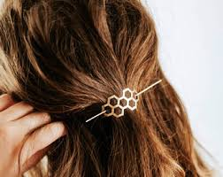 hair slide heart hair slide brass hair clip rustic copper hair barrette