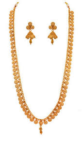 gold long necklace set images Jfl gold gold plated designer long necklace set size 29 cm rs jpg
