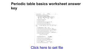 periodic table basics answer key periodic table basics worksheet answer key google docs