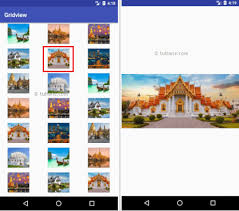 gridview android android gridview with exles tutlane