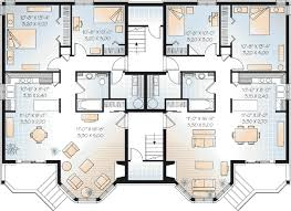 multi family house plans triplex astounding design 14 multi family house plans triplex townhouse