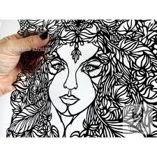 wildchild designs guest artist papercut diy design template