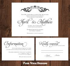 awesome magnificent wedding invitation rsvp card designing