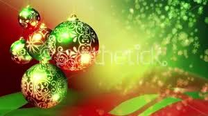 christmas background loop red green and gold christmas balls and