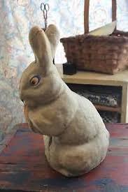paper mache bunnies large antique easter paper mache rabbit bunny ebay