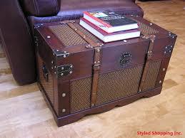 amazon com boston wood chest wooden steamer trunk medium trunk