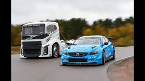 volvo rigs watch a volvo big rig take on a polestar race car 95 octane