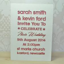 wedding invitations newcastle laser cut typography wedding invitation by sweet pea design