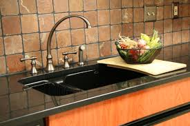 kitchen sink faucet black unforgettable two handle arc on