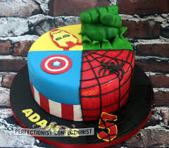 the perfectionist confectionist adam superheroes birthday cake