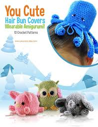 etsy crochet pattern amigurumi crochet pattern amigurumi hair bun cover pattern ebook