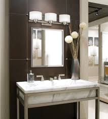 Lighting Ideas For Bathrooms Bathroom Bathroom Lights Above Mirror With Marble Sink As