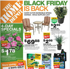 home depot to implement spring black friday