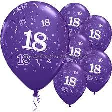 balloons for 18th birthday 18th balloons 11 inch quartz purple each ball18purp 0 39
