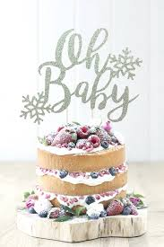snowflake cake topper christmas oh baby cake topper christmas gender reveal party