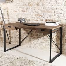 metal bureau bureau bois metal cheap bureau industriel par le marchand d oublis