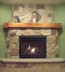 Interior  Barn Beam Fireplace Mantels With Natural Stone - Rustic accents home decor