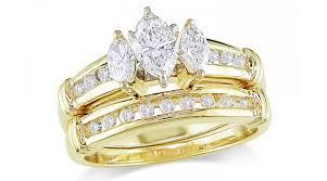 golden diamond rings images Gold diamond wedding rings wedding promise diamond engagement jpg