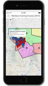 Montana Land Ownership Maps by New Cellphone App Maps Montana Block Management Areas Outdoors