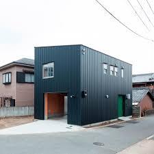 modern garage design in creative japanese small house plan exterior design ideas for unique japanese small house modern garage