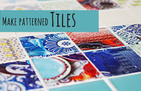 make your own patterned tiles youtube