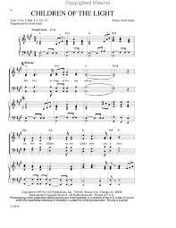 Children Of The Light Buy Choral Vocal Choir Scores Sheet Music Worship Praise