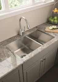 kitchen sink and faucet ideas kitchen sink ideas with grey cabinet and floor 1409