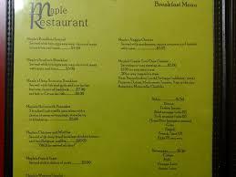 Breakfast Buffet Niagara Falls by Maple Restaurant Menu Menu For Maple Restaurant Niagara Falls