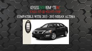how to replace nissan altima key fob battery 2013 2015 youtube