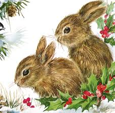 vintage christmas bunnies darling the graphics fairy