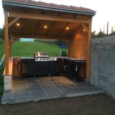 barbecue cuisine d été cuisine d extérieure d été barbecue au gaz 5 brûleurs