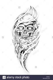 sketch of tattoo art monster stock photo royalty free image