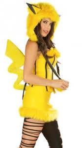 Halloween Costumes Pikachu Yellow Hooded Pikachu Halloween Costume