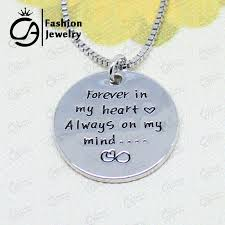 charm necklace wholesale images Wholesale forever in my heart always on my mind inspirational jpg