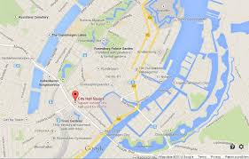 map of copenhagen city square on map of copenhagen easy guides