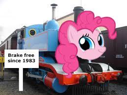 Train Meme - 325437 meme pinkie pie safe thomas the tank engine train