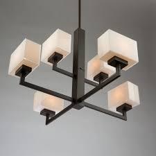 Cube Lights Cube Lights Sc13186ob 6 Light Chandelier Artcraft Lighting