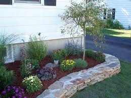 Home Landscaping Ideas by Simple Flower Bed Ideas Flower Bed Designs For Front Of House Use