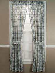 Country Plaid Curtains Energy Efficient Curtains Thermal Window Treatments