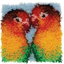 wonderart latch hook kit 12 x12 lovebirds joann