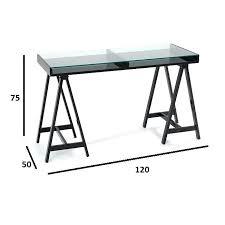 bureau plateau en verre bureau plateau verre bureau achlys noir plateau en verre trempac