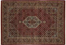 Quadra Esszimmer Benaras Bidjar Rot Quadra Bl 150x150 Cm In Rot Schurwolle Und