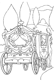 cinderella coloring pages ball